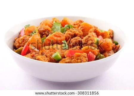 Famous Indian curry dish -Aloo Gobi - stock photo