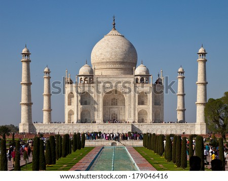 "Famous indian temple ""Taj-Mahal"""