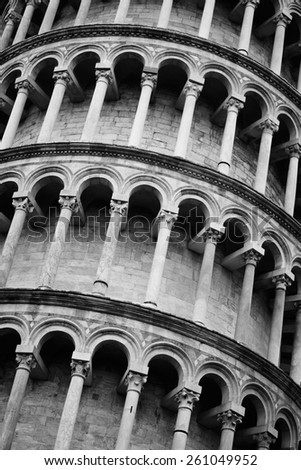 Famous Leaning Tower of Pisa, Tuscany, Italy - stock photo