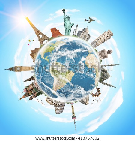 Famous monuments of the world illustrating the travel and holidays 'elements of this image furnished by NASA'