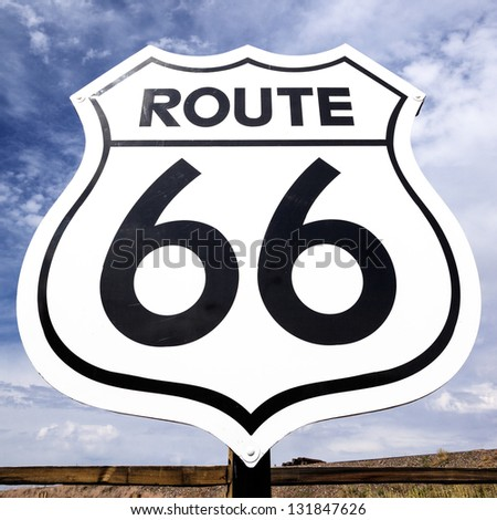 Famous nostalgic route 66 sign - stock photo