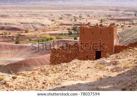 Famous Old City of Ait Ben Haddu, Marocco - stock photo