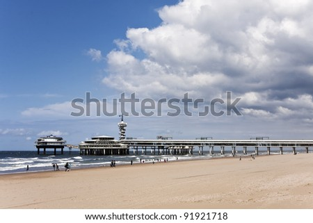 Famous Pier at The Hague, Holland - stock photo