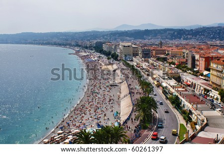 Famous Promenade in Nice, France