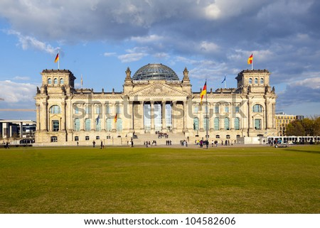 famous Reichstag in Berlin, the german parliament