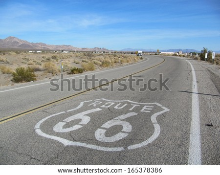 famous route 66 - stock photo