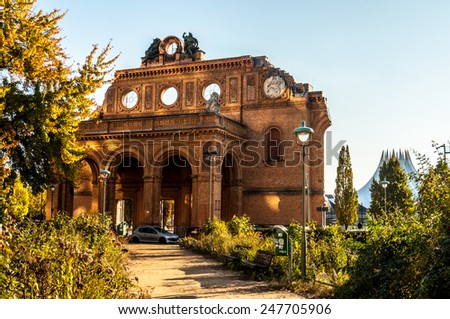 famous ruin of the Anhalter Bahnhof in Berlin