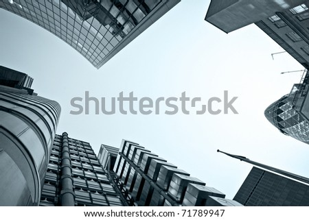 Famous skyscrapers in the financial district of London - stock photo