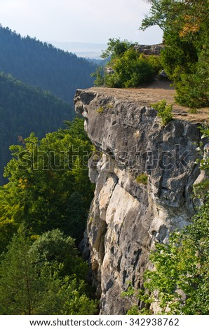 Famous Tomasovsky Vyhlad viewpoint in Slovak Paradise - stock photo