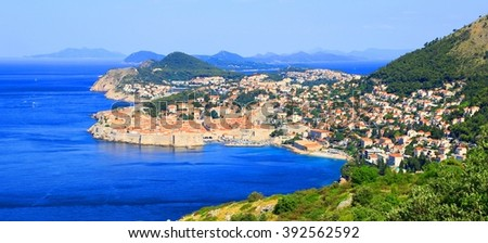 Famous touristic destination Dubrovnik in Croatia - stock photo
