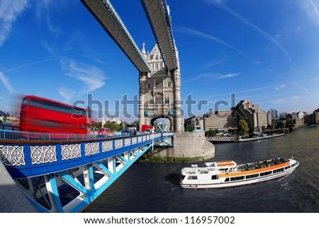 Famous Tower Bridge in London, England - stock photo