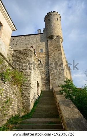 Famous tower in Tallinn. Capital of Estonia - stock photo