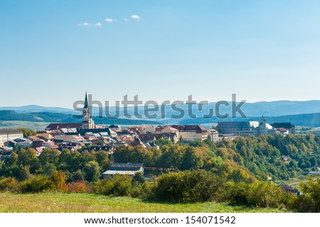 Famous Town of Levoca, Slovakia. UNESCO World Heritage Site