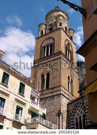 Famous travel destination UNESCO World Heritage Amalfi Campania Italy  - stock photo
