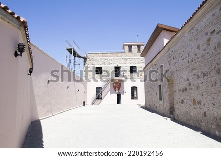 famous Ulucanlar prison in Ankara,  it is being used as a museum nowadays , political guilties were held in the past, Turkey - stock photo