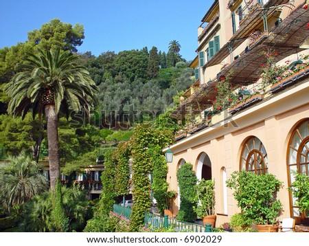 Famous Upscale Hotel in Portofino, Italy - stock photo