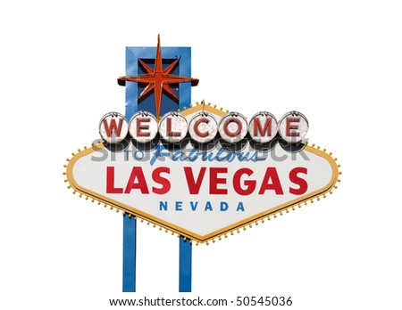 Famous Welcome to Las Vegas sign in Nevada USA. - stock photo