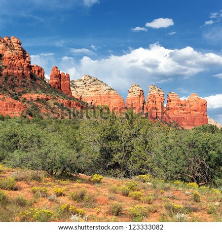 famous wilderness landscape near Sedona - stock photo