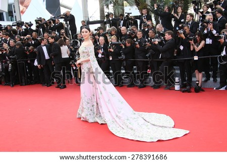 Fan Bingbing attends the opening ceremony and 'La Tete Haute' premiere during the 68th annual Cannes Film Festival on May 13, 2015 in Cannes, France. - stock photo