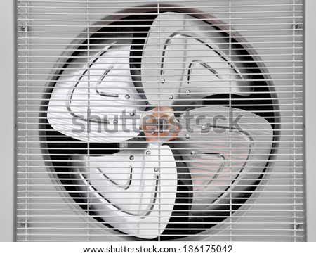 fan of air conditioners - stock photo