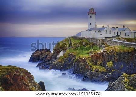 Fanad Lighthouse, Co. Donegal, Ireland - stock photo