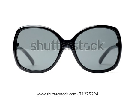 fancy black women sunglasses white isolated