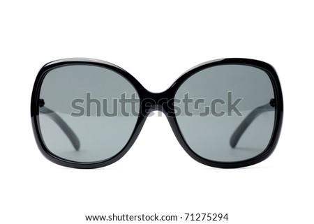 fancy black women sunglasses white isolated - stock photo