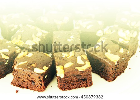 fancy cake chocolate with color filters - stock photo