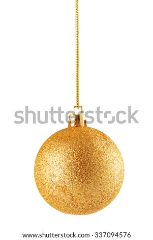 Fancy christmas ball isolated on white background - stock photo