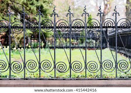 Fancy fence - stock photo