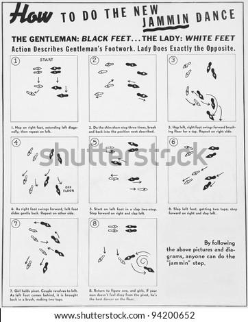 Stock Photo Fancy Footwork on Printable Dance Steps Diagrams