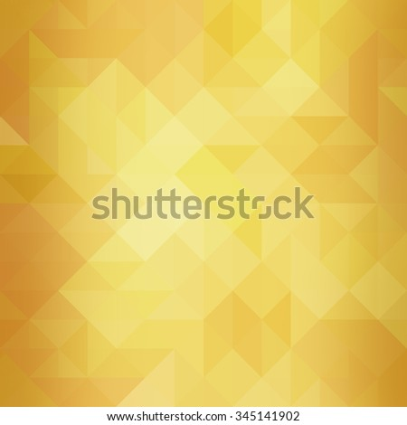 fancy gold background with triangle pattern, low poly yellow background, geometric background design,  - stock photo