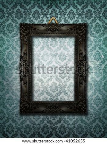 Fancy picture frame - stock photo