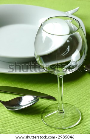 Fancy table setting - stock photo