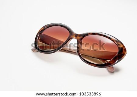 Fancy women sunglasses, close up - stock photo