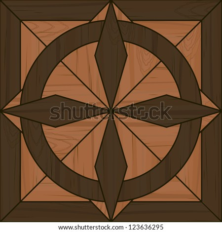 Fancy wooden parquet tile for seamless pattern