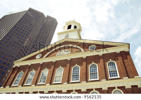 faneuil hall - stock photo