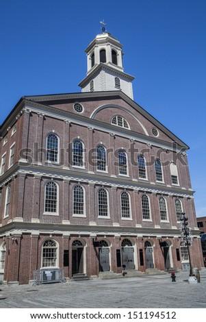 Faneuil Hall, Boston Massachusetts - stock photo