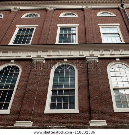 Faneuil Hall in Boston, Massachusetts, USA - stock photo
