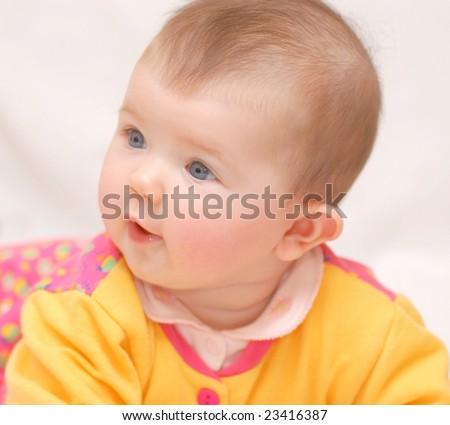 Fanny baby girl - stock photo