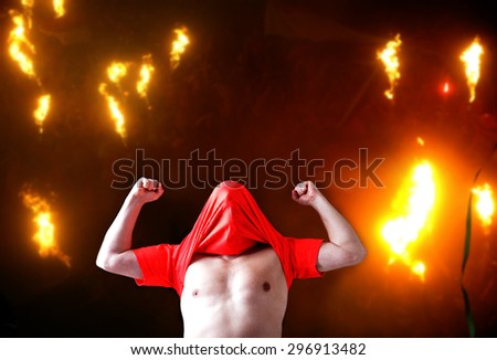 Fans. Fire. - stock photo