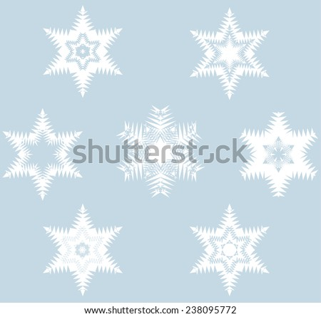 "Fantasies ""Snowflakes"",Set of elements of design"