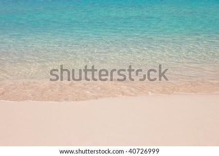 Fantastic beach in Bahamas - stock photo