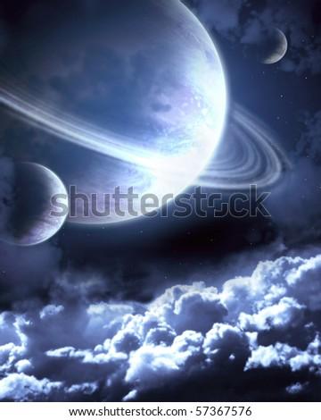 Fantastic beautiful galaxy - stock photo