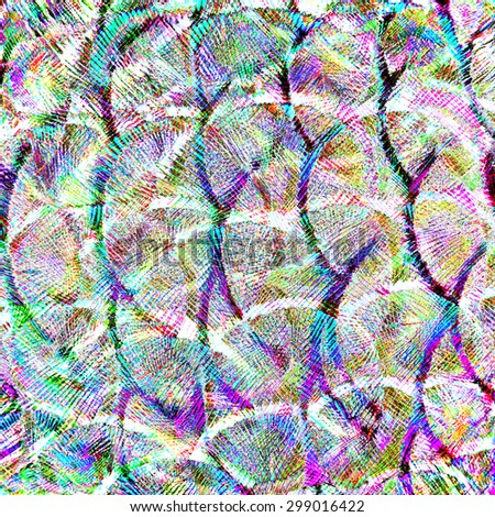 Fantastic Bright Colors Background Texture made of Green Peacock Bird's Feathers - stock photo
