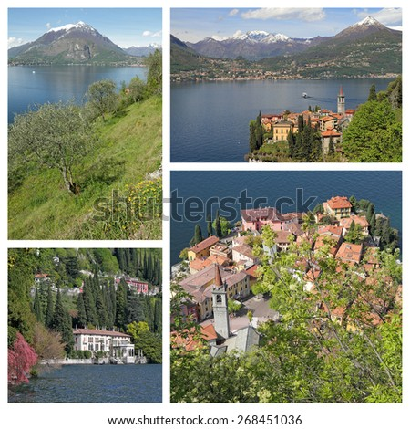 fantastic images of Varenna village on lake Como in north Italy, Europe - stock photo