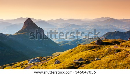 Fantastic landscape at the foot of Sto�¾ina in the national park Durmitor in Montenegro, Balkans. Dramatic scenery. Europe. Beauty world.