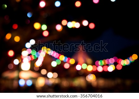 Fantastic Light of Disney Land at Hong Kong - stock photo