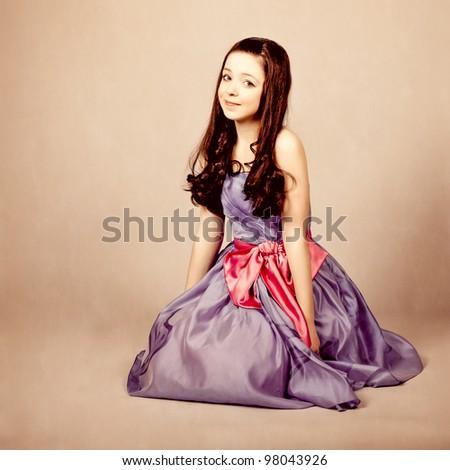 fantastic little girl - stock photo