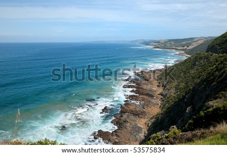 Fantastic paradise wild beach. Great Ocean Road, Australia, Victoria, National park. - stock photo